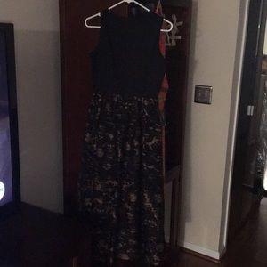 Samuel Dong lace black dress XSmall